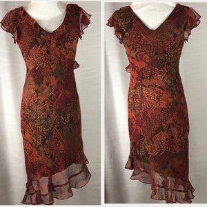 Dresses & Skirts - Breakin Loose Chiffon Dress Asymmetrical size 9/10